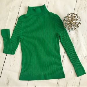 Talbots Green Sweater